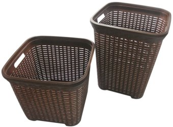 Klio Laundry Basket Woven StyleBig and Small Set - KL-H001/02 (Brown) Price Philippines