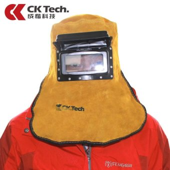 Harga Leather Welding Hood Helmet with Normal Lens Weld Mask Hat Protector Mask - intl