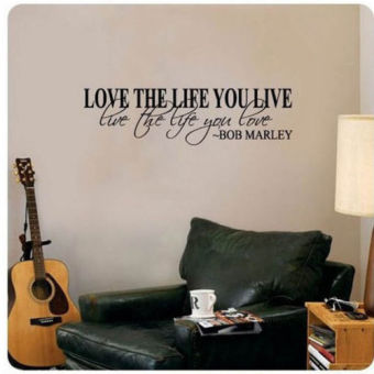 Harga Bob Marley Quote Wall Decals Decor Love Life Words Large Sticker Text - intl