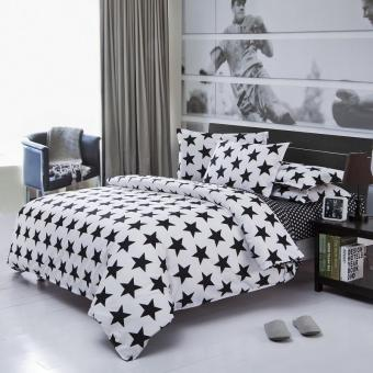 Spring/summer Style Cotton Bedding Sets Super Soft Owl Twin Full Queen King Nordic Style Comforter Duvet Cover Bed Sheet Pillowcase (Queen size) - intl Price Philippines