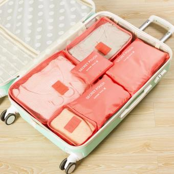 Harga 6Pcs Waterproof Travel Storage Bag Clothes Packing Cube Luggage Organizer Pouch