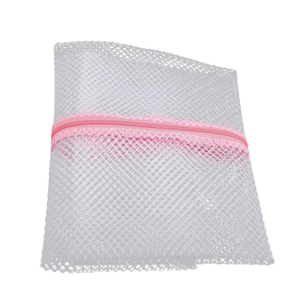 Harga Clothes Wash Aid Laundry Saver Mesh Zipper Net Wash Clothes Bag Cleaner (White)