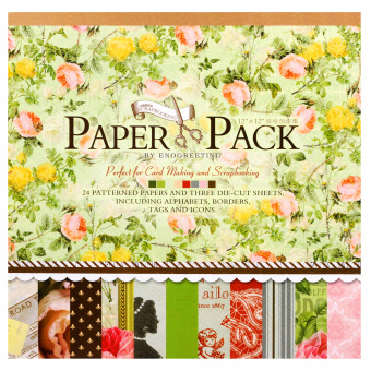 Harga INSPIRE 24 Patterned Papers & Die-cut Sheets Creative Floral Scrapbooking Paper Pack #06