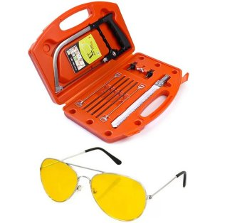 Magic Saw Multipurpose Magic Saw DIY Handy Saw 8 Blades(Red) with Night View Glasses (Yellow) Price Philippines