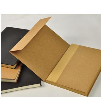 Harga Brown Cover Brown Page 32K 64Sheets Blank Notebook