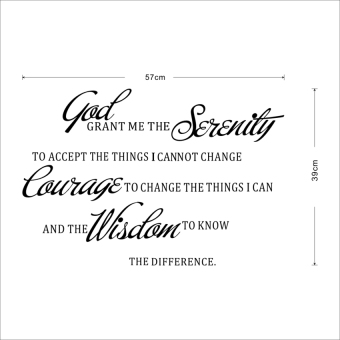 "LZ Removable Pvc Wall Sticker ""God Grant Me The Serenity Prayer Bible"" Words - intl Price Philippines"