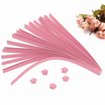 Harga 80Pcs Cute Folding Kit Lucky Origami Wish Star Paper Strips Papers Crafts Gift Pink - intl