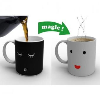 Magic Change Face Color Heat Sensitive Mug Coffee Milk Cup Mug Gift - intl Price Philippines