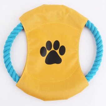 Dog Puppy Toy Frisbee-Rope Play Fetch Fly Throw Disc For Puppy Pet Supplies Price Philippines