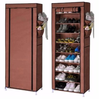 Harga SHXT-609 Shoe Cabinet Shoe Rack (Coffee)