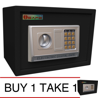 iSAFE iSF-25BLK Safe - Electronic Digital Safety Vault (Black) Buy 1 Take 1 Price Philippines