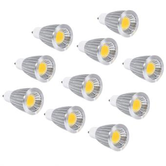 Harga 10pcs Ultra Bright Ultra Bright GU10 7W Natural White COB Spot Lights Bulbs - intl