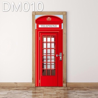 Phone Booth PVC Funlife 3D Door Sticker Wall Sticker 77*200cm Price Philippines