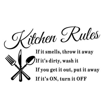Harga DIY Kitchen Rules Wall Quote Wall Sticker - intl