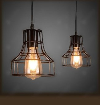 Industrial Loft Hanging Lamp Edison Black Bulb Pendant Light Ceiling Fixture - intl Price Philippines