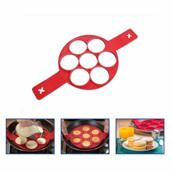 Harga New Kitchen Mould Tools Pancakes Waffle Egg and Cake Silicone Mold Home Living Tool - intl
