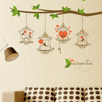 Harga Wallmark Lovely Birdcage Wall Sticker