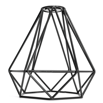 BolehDeals Vintage Metal Diamond Loft Pendant Ceiling Light Lamp Bulb Cage Decor Black Price Philippines