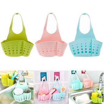 Kitchen Hanging Drain Bag Basket Bath Storage Tools Sink Holder (Blue) – Intl