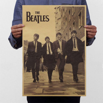 New The Beatles Rock Bands Music Poster Retro Kraft Paper Home Bar Pub Gifts - intl Price Philippines