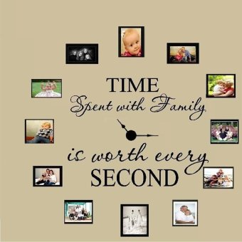 Harga Time Spent with Family Wall Art Sticker Quote Living Room Decor Mural Decal - intl