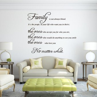 Harga Removable FAMILY Quote Wall Sticker Decal Mural DIY Living Room Art Home Decor