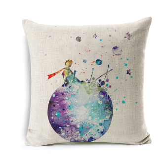 Harga The Little Prince Cartoon Cushion Cover Universe Planet Printed Throw Pillow Cases Polyester Cotton Linen Pillowcase