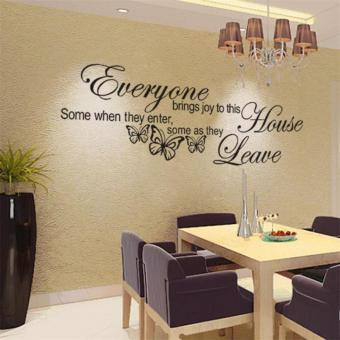 Harga Butterfly Art Vinyl Removable Quote Decal Mural Room Decor Home Wall Sticker