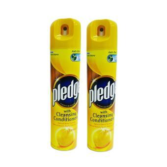 Pledge w/ Cleansing Conditioners Lemon 330ml 2′s (Yellow) 056728 W38