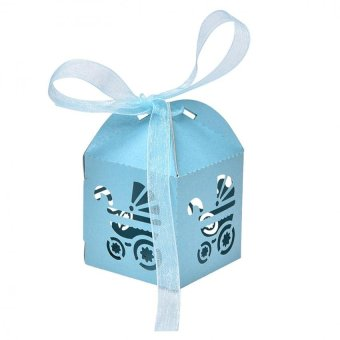 50pcs Laser Cut Married Wedding Favor Box Gift Box Candy Paper Party Box Blue Intl - intl Price Philippines