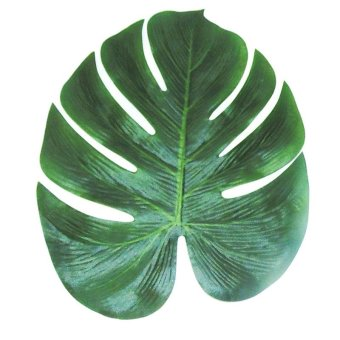 Harga 12pcs 35x29cm Artificial Tropical Palm Leaves Simulation Leaf for Hawaiian Luau Party Jungle Beach Theme Party Decorations - intl