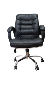 Harga Hapihomes C-1075 Office Chair (Black)