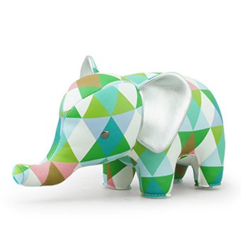 Harga Zuny Classic Elephant Bookend (Bright Diamond Green)