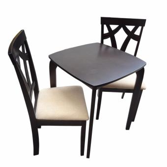 Harga Hapihomes Fixie Trixie 2-Seater All Wood Dining Set (black)