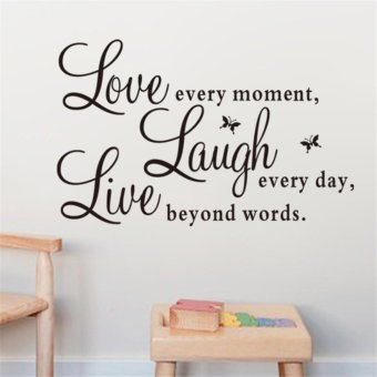 Harga Live Laugh Love Wall Sticker