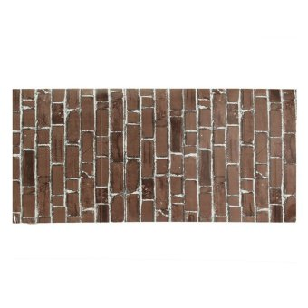 Harga Rustic Brick Effect Rock Stone Textured Wall Sticker Paper Coffee