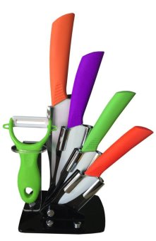 High Grade Zirconia Ceramic Knife 6-piece Set With Ceramic Peeler and Acrylic Stand Price Philippines