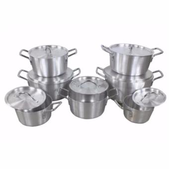 Harga Best Home Best Quality Aluminum 7pcs Cooking Pot(Silver)