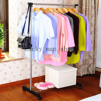 Harga Lucky man Thickening Single Pole Drying Rack Indoor