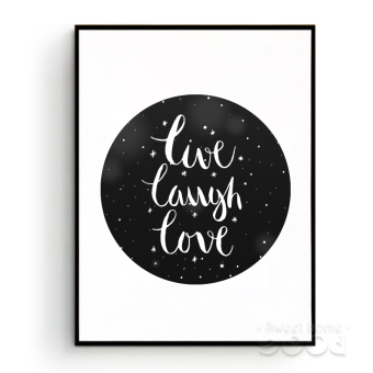 Harga Live Laugh Love Quote Wall Art Print Poster, Frame Not Include Canvas Art S013 - Intl