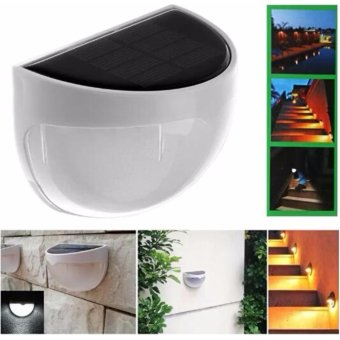 Harga 4 Pieces Led Solar Light Outdoor Waterproof Garden Decoration Solar Power Panel LED Wall Solar Power Lamps - intl