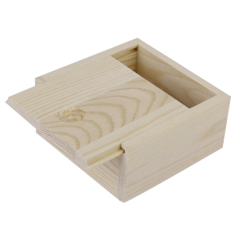 Harga Nature Wooden Storage Box (Brown)