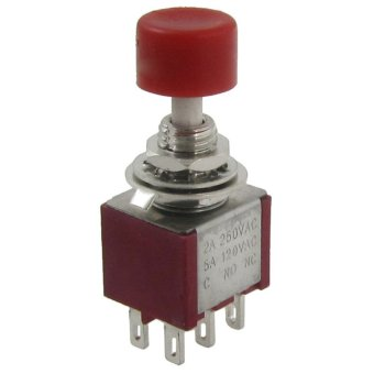 2 Pcs AC 250V 2A 120V 5A DPDT 2NO 2NC Momentary Push Button Switch - intl Price Philippines
