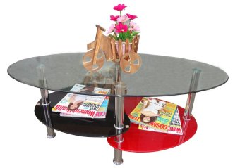Harga Hapihomes Kreme Center / Coffee Table (GLASS)