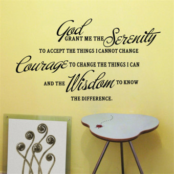 Harga Hequ New GOD GRANT ME THE SERENITY PRAYER BIBLE Art Quote Vinyl Wall Stickers