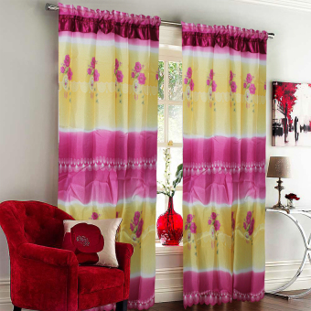 Harga CS Curtain Linen Darlene Maroon Spring Window Single Panel