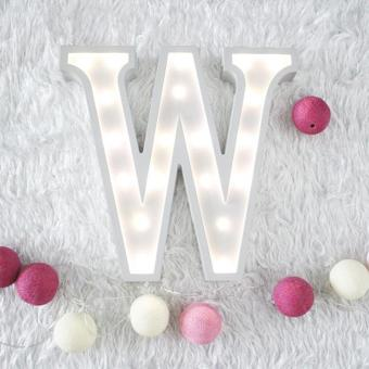 Creative Wood 26 Letter Nordic LED Light Wall Sign Vintage Wedding Party - intl Price Philippines