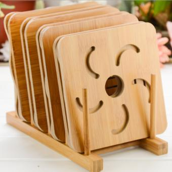 Harga Fengsheng Cartoon Wood Mat Placemat Bowl Pad Table Mat Coaster Bowl Mat - intl