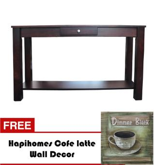 Harga Hapihomes Serenity Console Table WENGE FREE Coffe Latte Wall Decor