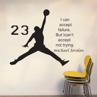 Harga Michael Jordan 23 Wall Sticker Black - intl
